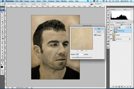 Textures in Photoshop – masking the texture but keeping the colour