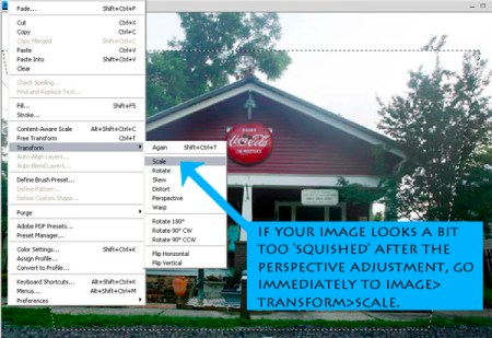 How to correct perspective in Photoshop