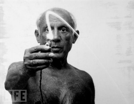 Picasso paints with light – a photo gallery