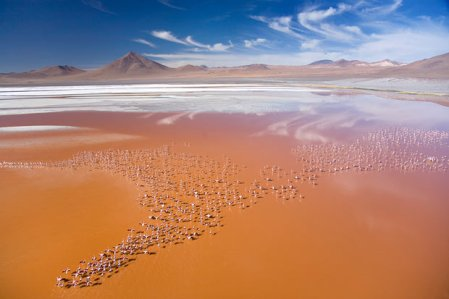 Photographer George Steinmetz captures aerial views of Earth's most remote areas from a paraglider