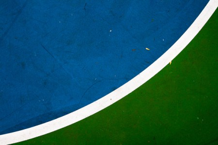 Basketball court – minimalist photos by François Angers
