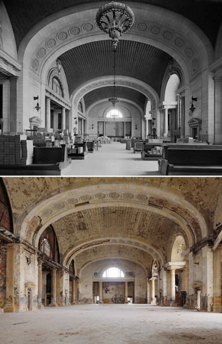Detroit Photographs – Then and Now – by Dave Jordano