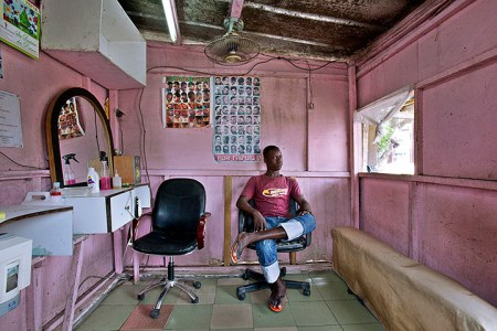 The barbershops of west Africa – in pictures