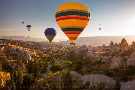 Soaring over Turkey in a hot air balloon