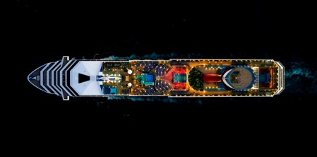 Jeffrey Milstein's aerial photos of cruise ships