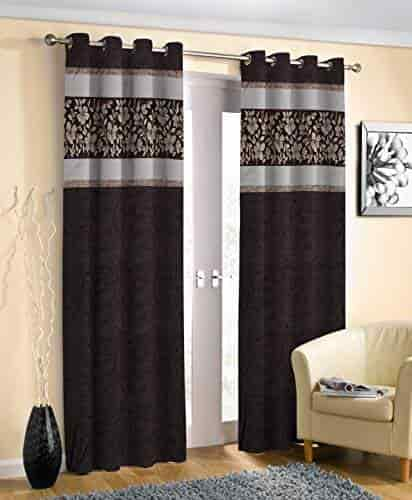 esmart beautiful leaf art punch patch design eyelet curtains set of 2 latest curtain designs lobby curtains coffee 4 x 8 door