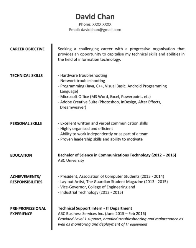 It Professional Sample Resume - Resume Sample