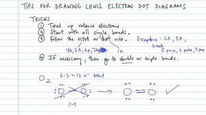 Tips for Drawing Lewis Electron Dot Diagrams  Concept