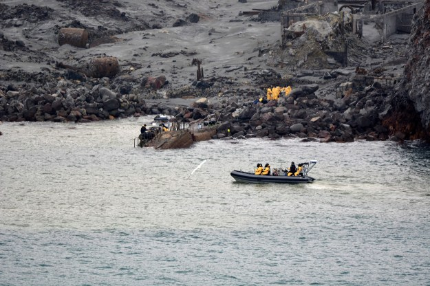 Press Image of White Island search mission