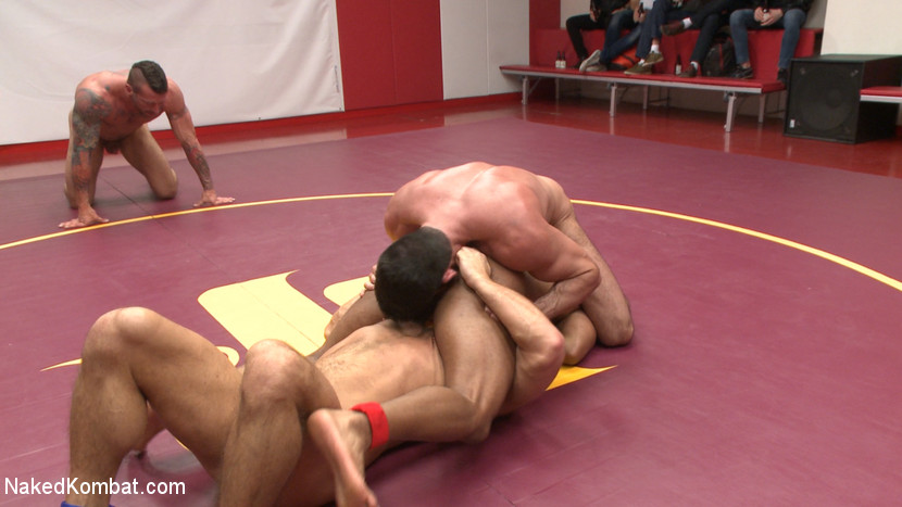 Muscle on Muscle: Live Tag Team Oil Match Between 4 Ripped Hunks! - domination