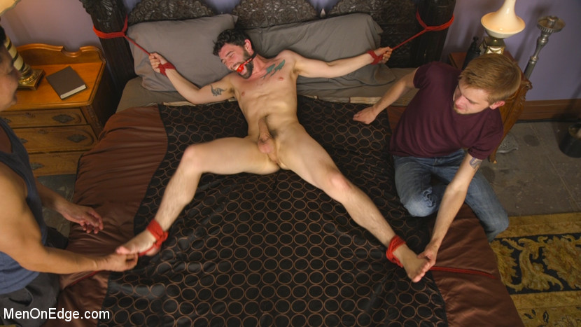 Men-on-Edgers Sebastian and Jackson Get Edged! - bondage