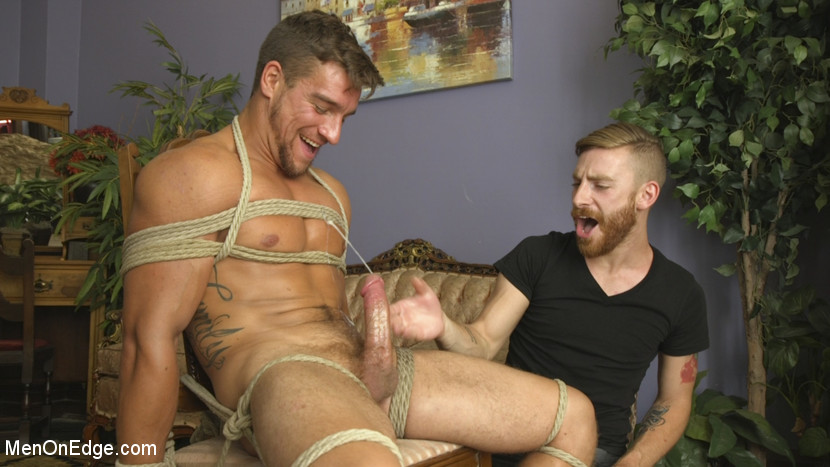 Edging Straight Boy Until He Busts a Nut Hands-Free - KinkMen