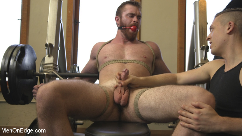 Ginger Muscle God Tormented and Edged in Bondage - Edging