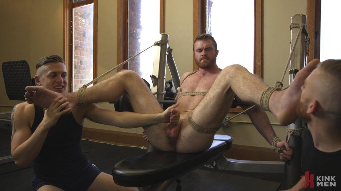 Ginger Muscle God Tormented and Edged in Bondage - KinkMen