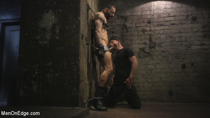 Leather Hunk Edged in Chains - dildo