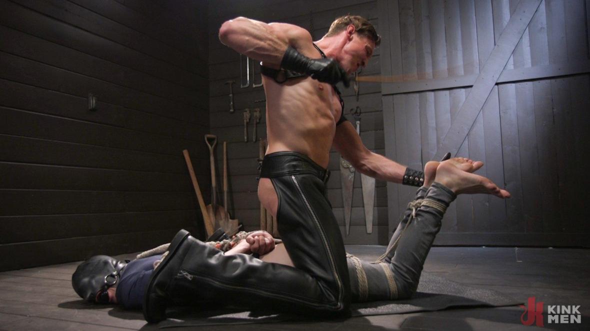 Pierce Paris Manhandles Tony Orlando - bondage