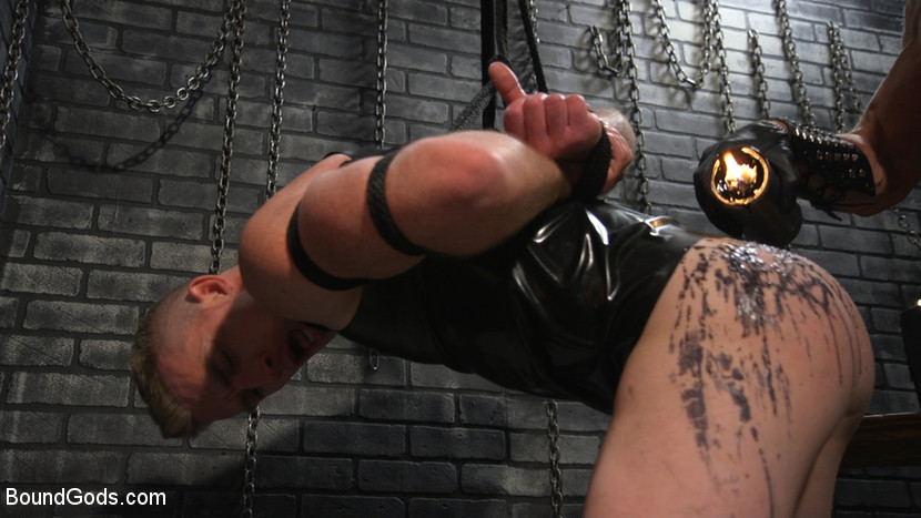 New To KinkMen Nick Fitt Gets Dominated and Fucked by Dallas Steele - rope bondage