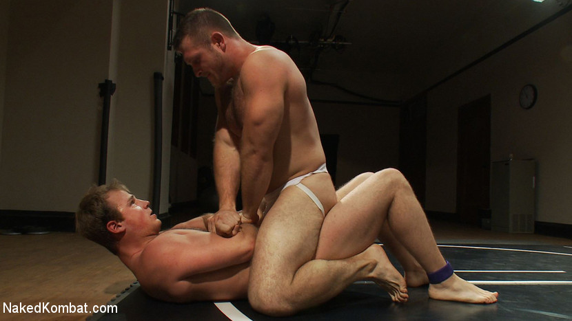 Muscled hunks duke it out in the gym, loser takes it in the ass! - uncut