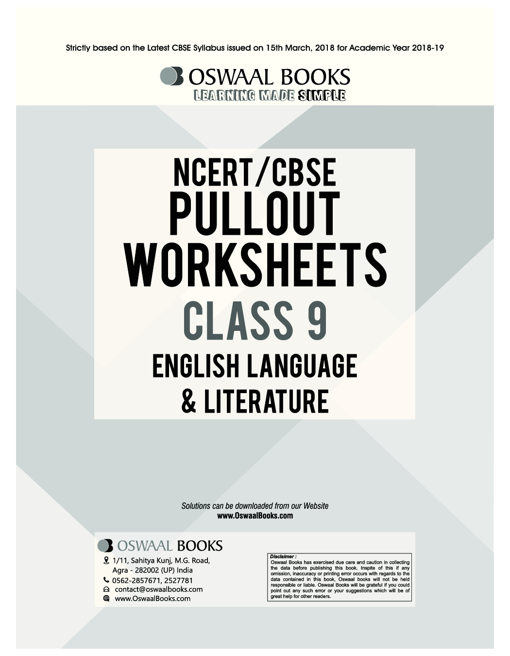 Download Oswaal Ncert Amp Cbse Pullout Worksheets Class