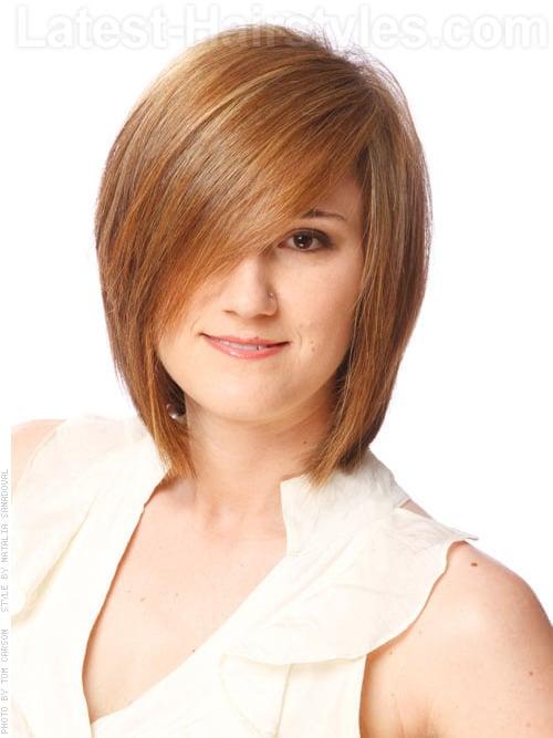 Balancing Act Sleek Brunette Layered Bob Hairstyles