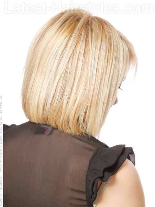 Barely There Layered Bob Straight Style Back View