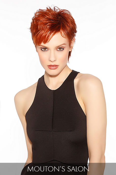 This stunning cropped cut is light and airy, fueled by dynamic color that adds to the effect of sprightly, layered strands.