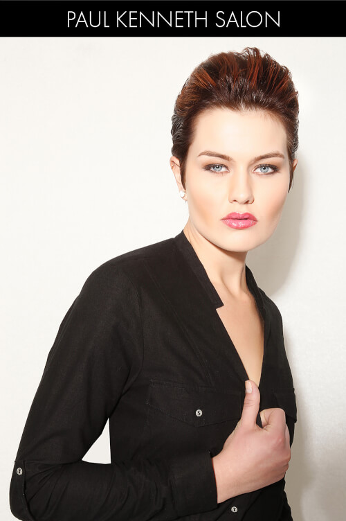 Dramatic Short Hairstyle for Winter