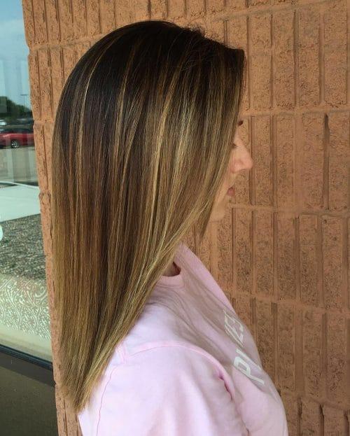 Blonde Highlights On Dark Brown Hair Straight Makeupsite