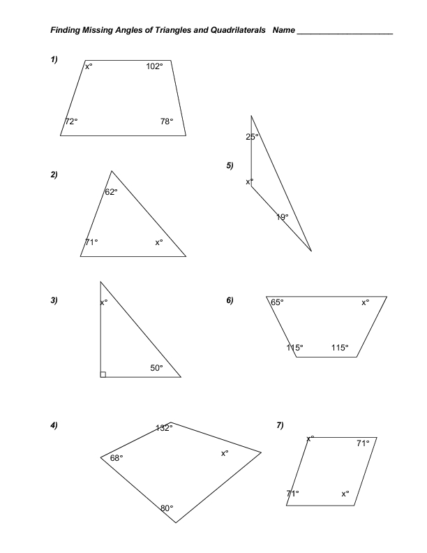 Finding Angles Of Triangles Worksheets Pictures to Pin on – Interior and Exterior Angles Worksheet