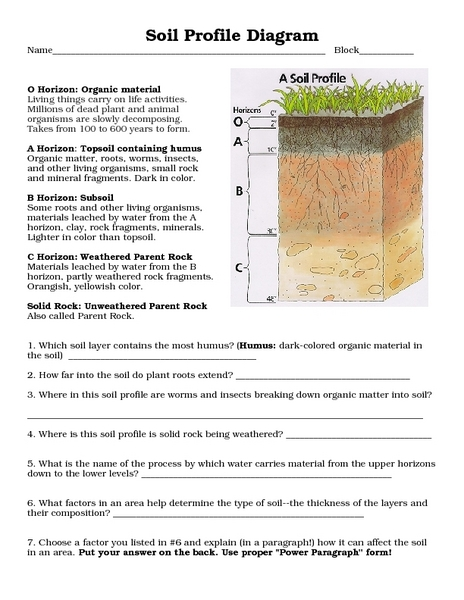Types Soil Horizons Diagram