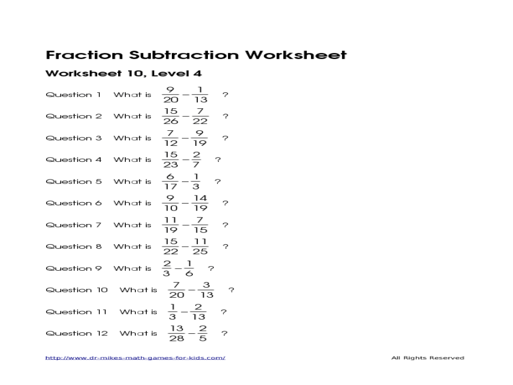 Worksheet Adding And Subtracting Fractions With Different