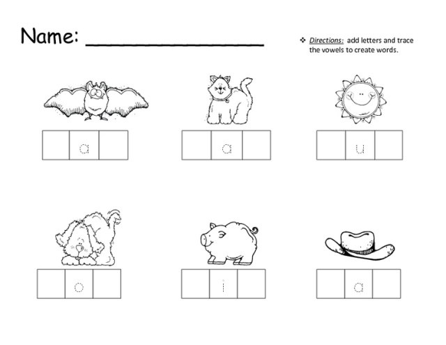 New 463 Cvc Picture Match Worksheet