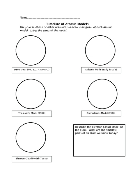 atomic timeline worksheet worksheets releaseboard free printable worksheets and activities. Black Bedroom Furniture Sets. Home Design Ideas