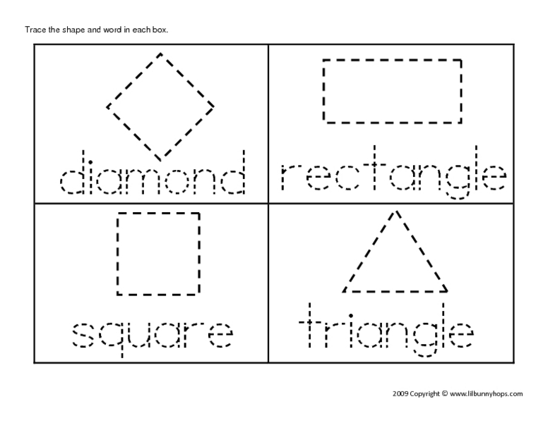 All Worksheets Shape Tracing Worksheets Printable Worksheets – Tracing Names Worksheet