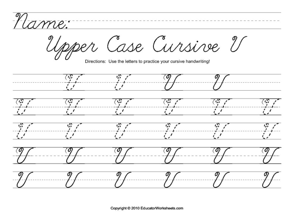 Capital Capital V In Cursive