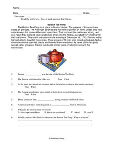 Boston Tea Party Acrostic Poem | MyPoems.Co