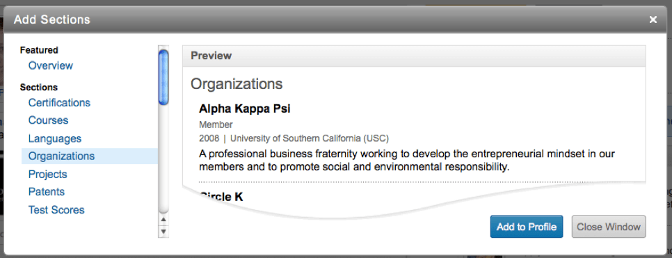 new profile sections designed for students official linkedin blog