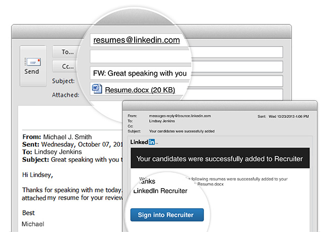 adding now as easy as an email linkedin