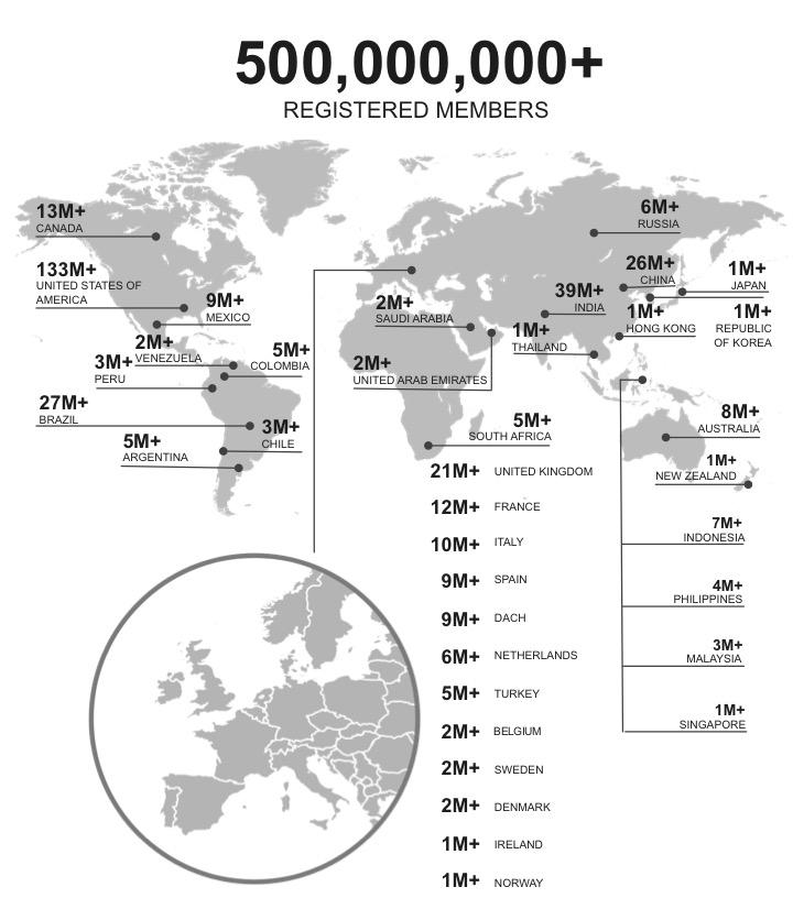 LinkedIn hits 500 Million global members - 2017 April