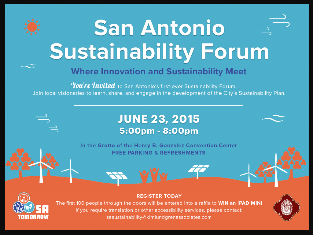 Invitation for San Antonio Sustainability Forum