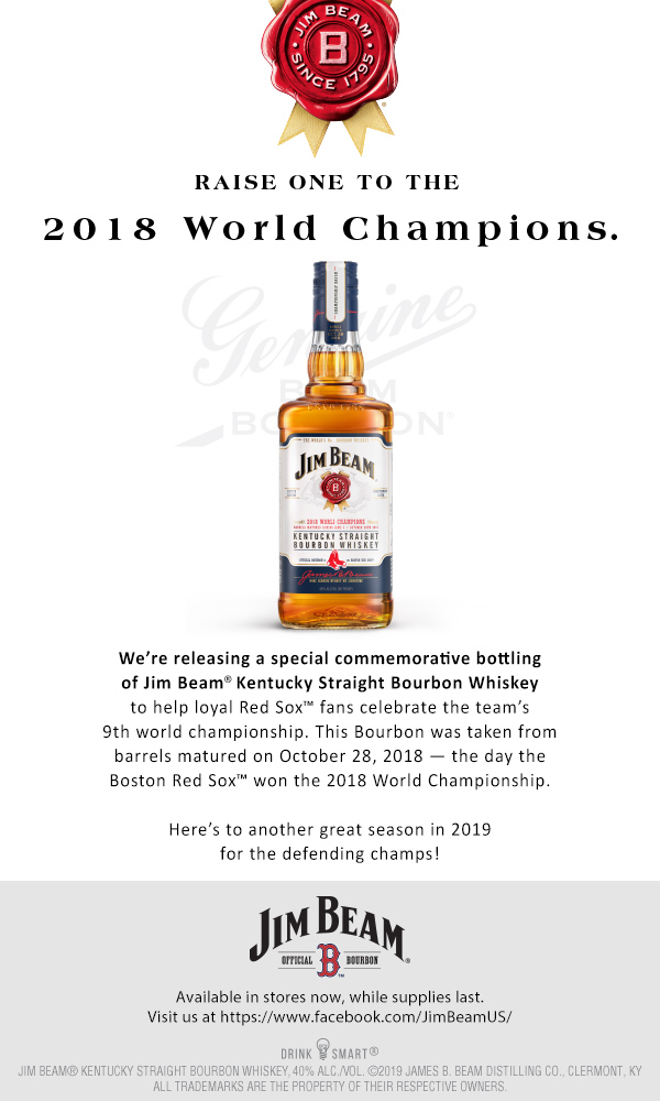 Jim Beam Red Sox 2018 Championship Edition – Now in stores