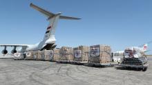 وصول شحنة جديدة من المساعدات المصرية لتونس