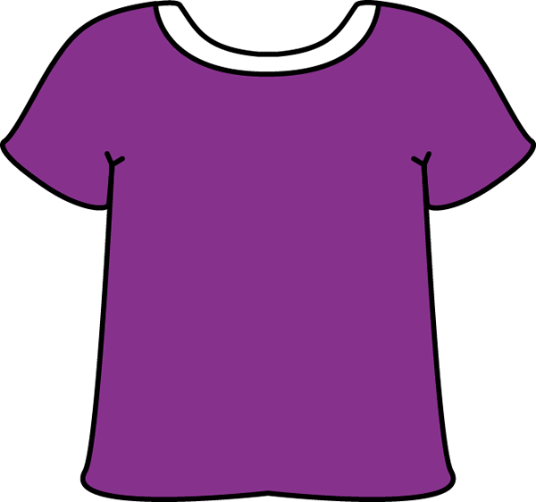 Purple Tshirt With A White Collar Clip Art Purple Tshirt