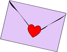 Heart Stamped Letter