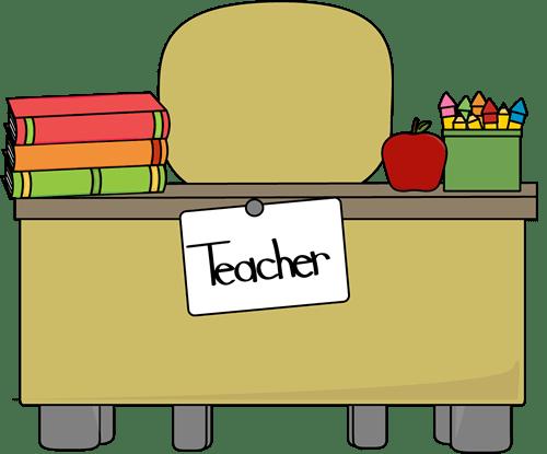 Teacher's Desk Vector Image