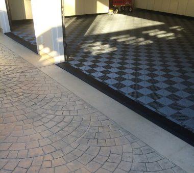 garage floor tile designs