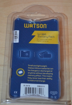 Back of Watson EN EL-EL14A Battery in Package