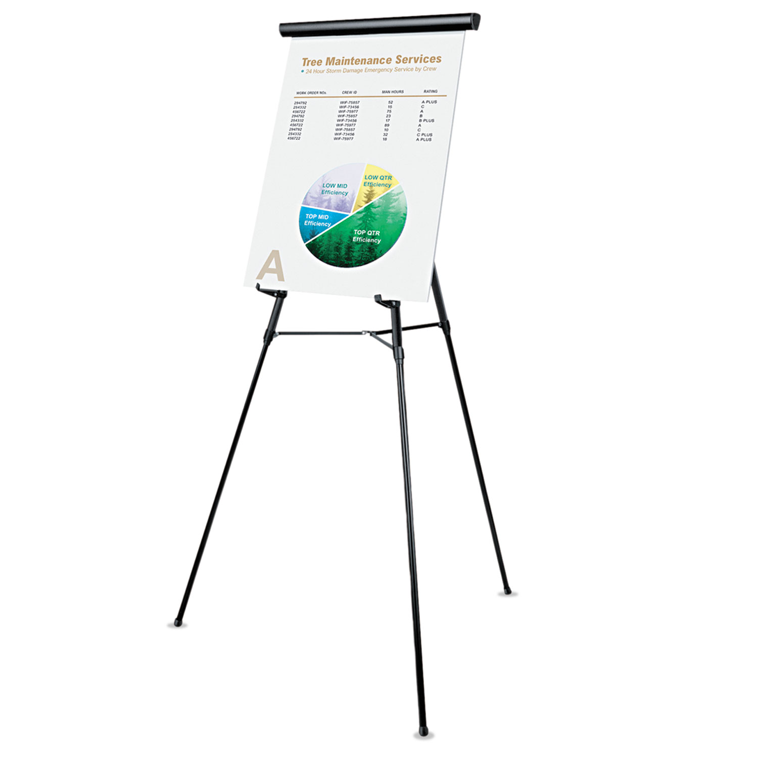 3 Leg Telescoping Easel With Pad Retainer Adjusts 34 To