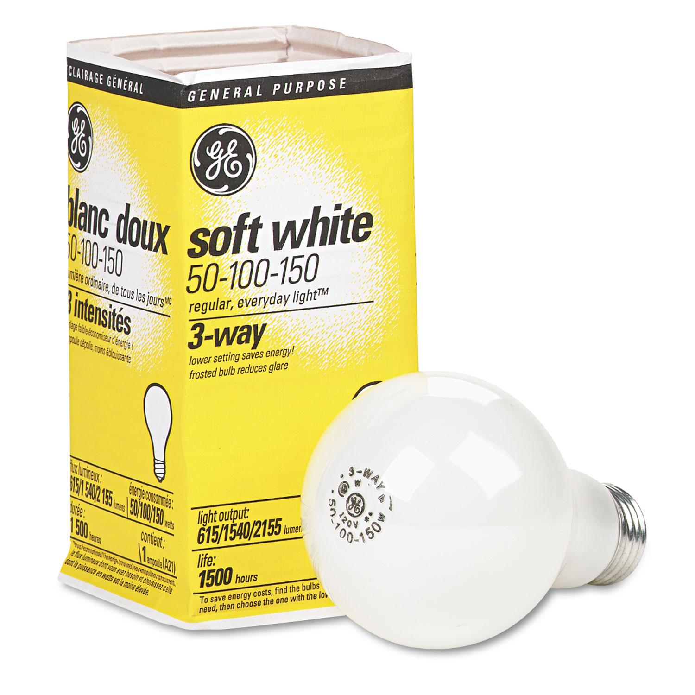 Gel Ge Three Way Soft White Incandescent Globe Bulb