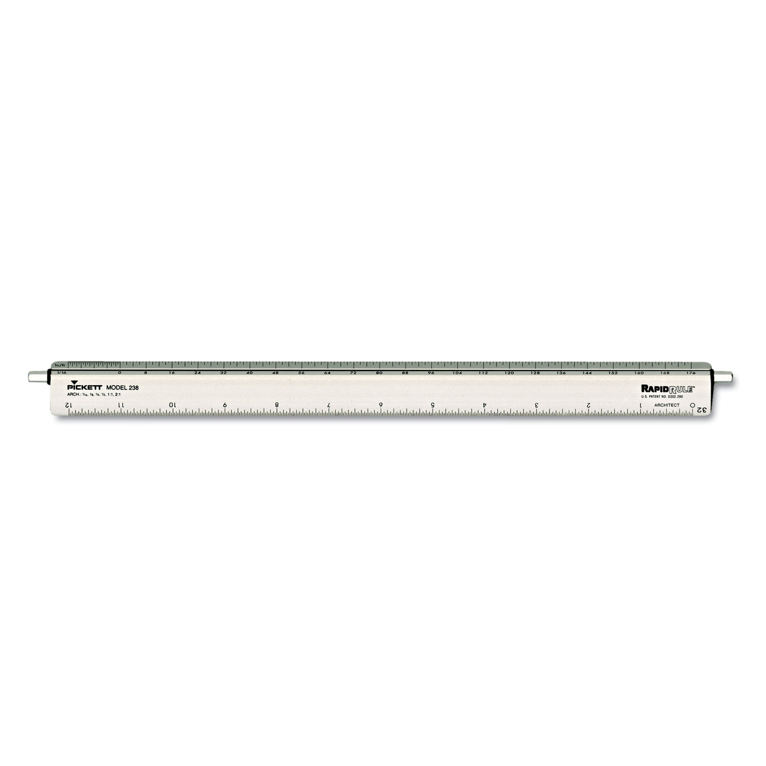 Adjustable Triangular Scale Aluminum Architects Ruler By
